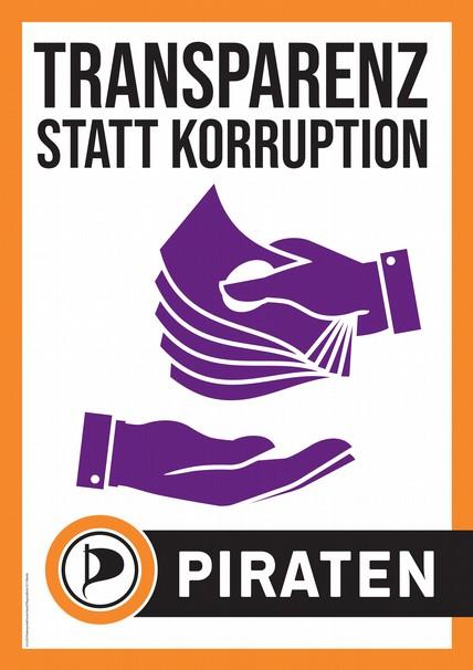Transparenz statt Korruption.